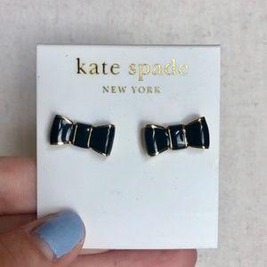 Kate Spade Black Bow Stud Earrings
